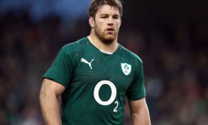 Tullow's Sean O'Brien lines out for Ireland.