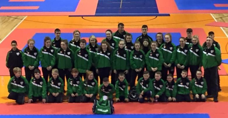 Team Ireland pictured in Slovenia at the World Karate Championship for Cadets & Juniors in Maribor, Slovenia, November 2015. Photo: Ballon Karate Club