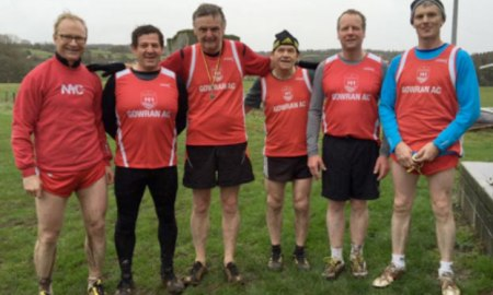 Some of the Gowran AC club members involved in cross country action at Grennan College on Sunday 29 November. Photo: Kilkenny Athletics