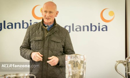 Kilkenny senior hurling manager Brian Cody speaking to media at the launch of the 2016 hurling campaign at Nowlan Park. Photo: Ken McGuire/KCLR