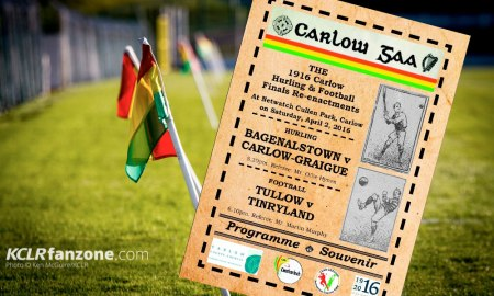 The cover of the souvenir programme prepared for this weekend's 1916 county final replays at Netwatch Cullen Park.
