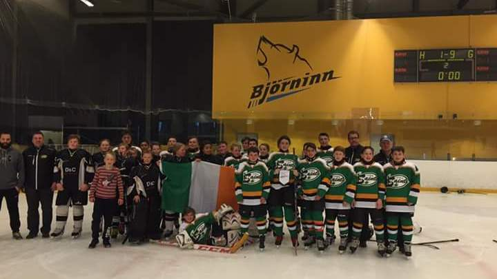 IIHA Saints pictured in Iceland. Photo: Kilkenny Storm/Facebook