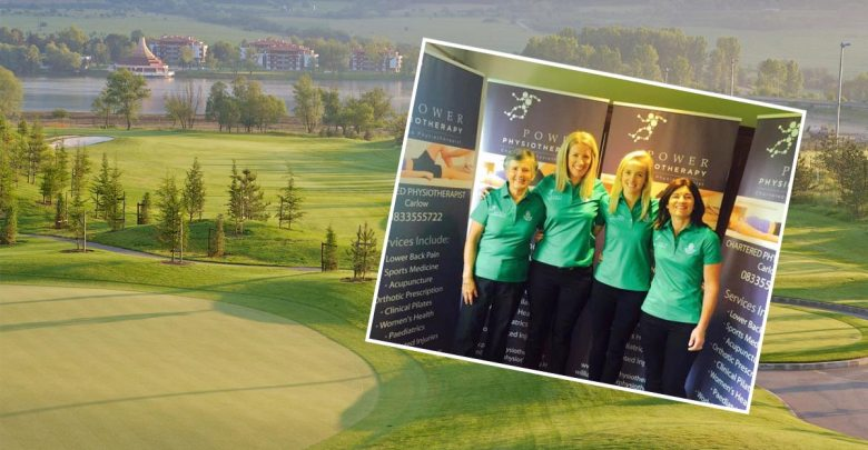 Pravets Golf Course, Bulgaria, and inset, the Kilkenny ladies golf team. Inset photo: Power Physiotherapy/Facebook