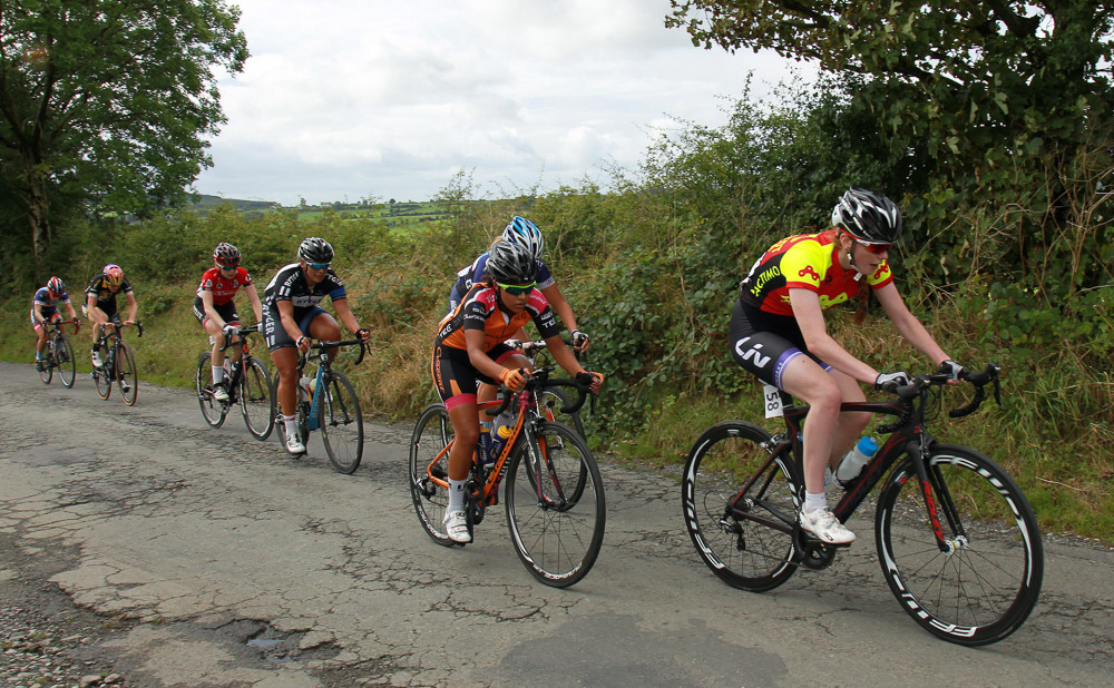 An Post Ras na mBan Stage 2 8/9/2016; Anna Docherty of the Backstedt Cycling team on todays stage. Photo: Lorraine O'Sullivan