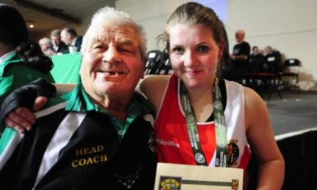 Jimmy Walsh and Claire Grace. Photo: Irish Athletic Boxing Association/IABA.ie