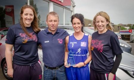 Marble City Hawks receive their Sport Star Award from KCLR & David Buggy Motors. Photo: Ken McGuire/KCLR