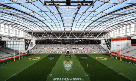 An overview of Forsyth Barr Stadium where the Lions will face the Highlanders as part of the 2017 tour.