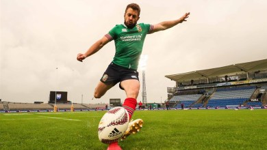 Greig Laidlaw lines up a kick at goal. Photo: LionsRugby.com