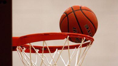 Basketball rim. File photo.