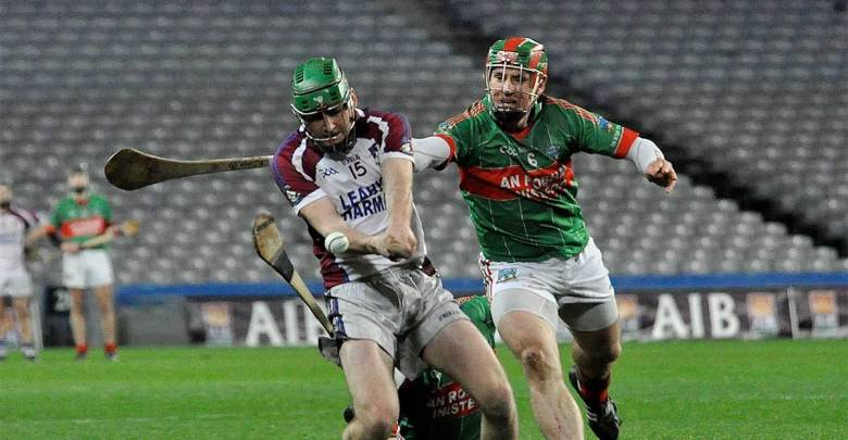 Ciarán Ryan and the Rower's Kieran Joyce in Croke Park. Photo: TheRowerInistioge.com