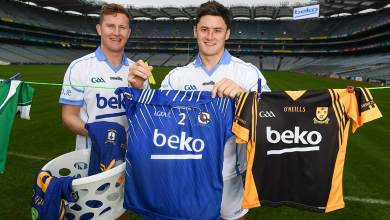 Dublin footballer Ciaran Kilkenny and Wexford hurler Lee Chin in attendance in Croke Park, Dublin, at the launch of the 2018 Beko Club Bua award scheme. Photo: Stephen McCarthy/Sportsfile