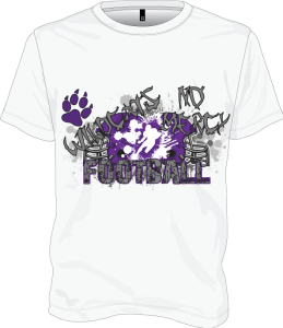 Wildcats-No-Mercy-Football-White-T