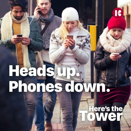 Here's the Tower Heads Up Phones Down