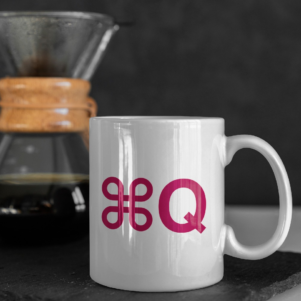 Command Q coffee mug - kcomposite.com