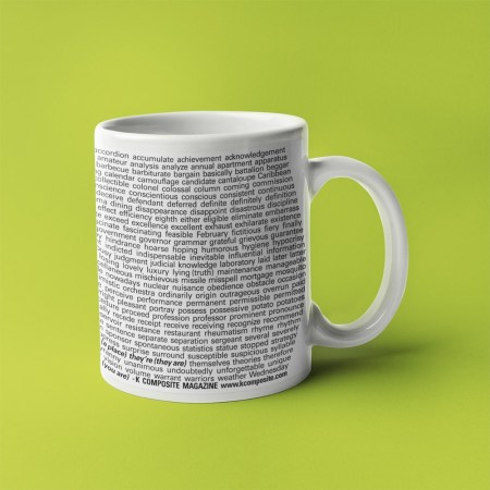 Commonly Misspelled Words coffee mug