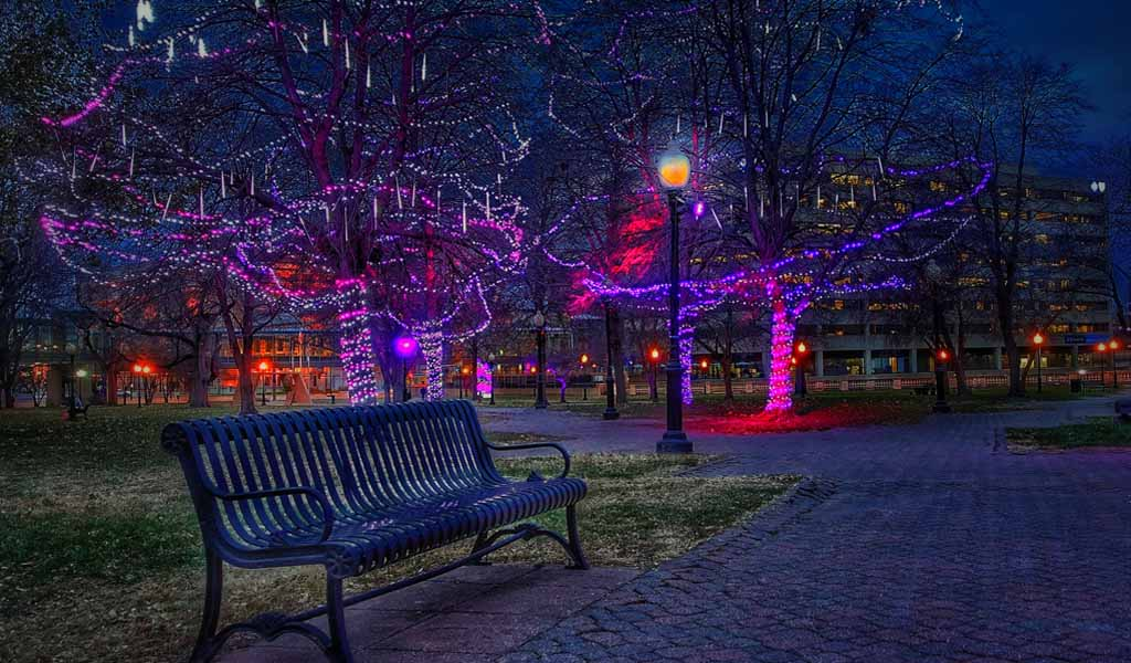Holiday Lights In Washington Square Park Kc Parks And Rec