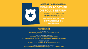 Coming Together on Police Reform: Legislative Wrap-Up @ Online Event Zoom Webinar  |  |  |