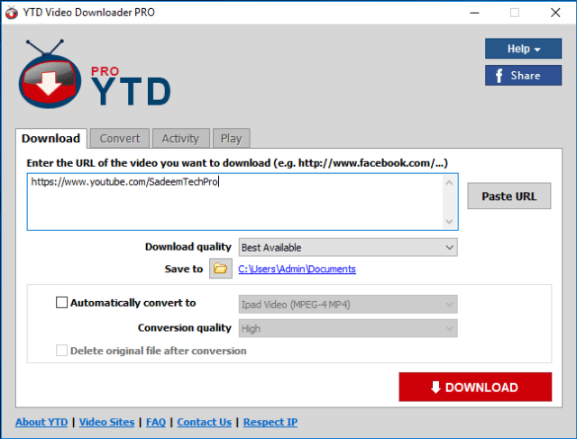 YTD Video Downloader Pro Full Version Cracked