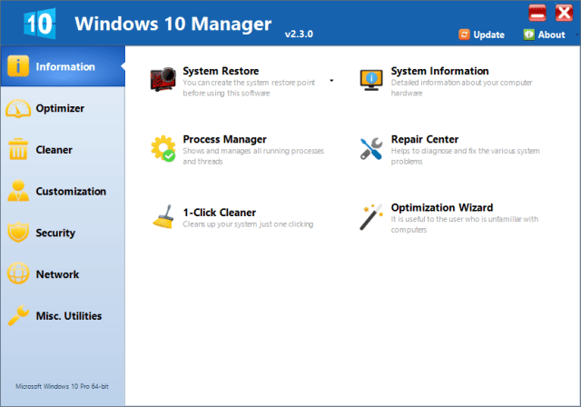Yamicsoft Windows 10 Manager Full Cracked
