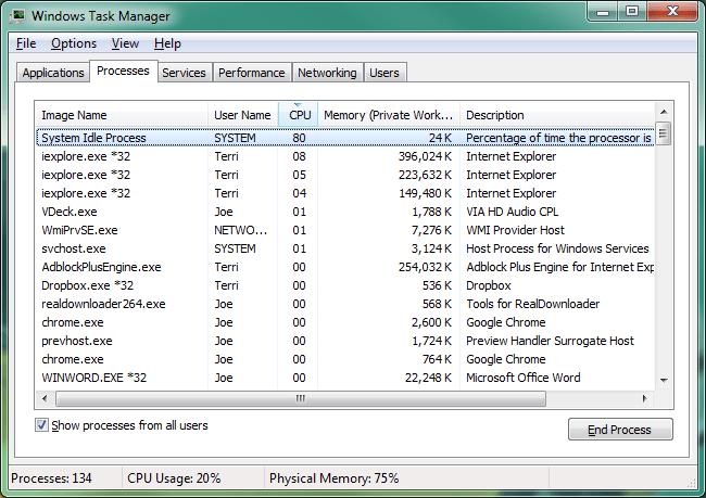 why do i have so many svchost.exe running windows 7