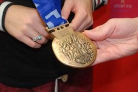 Deidra's bronze medal from the Salt Lake Games.