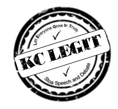 KC Stoa Speech and Debate: KC LEGIT