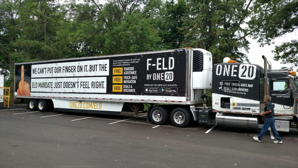 ONE20 truck wrap