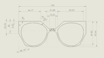Tennyson Sunglasses - Kelly Carpenter Tech Drawing