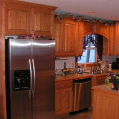 Red Oak Kitchen Cabinets Cabinents Custom Kc Wood