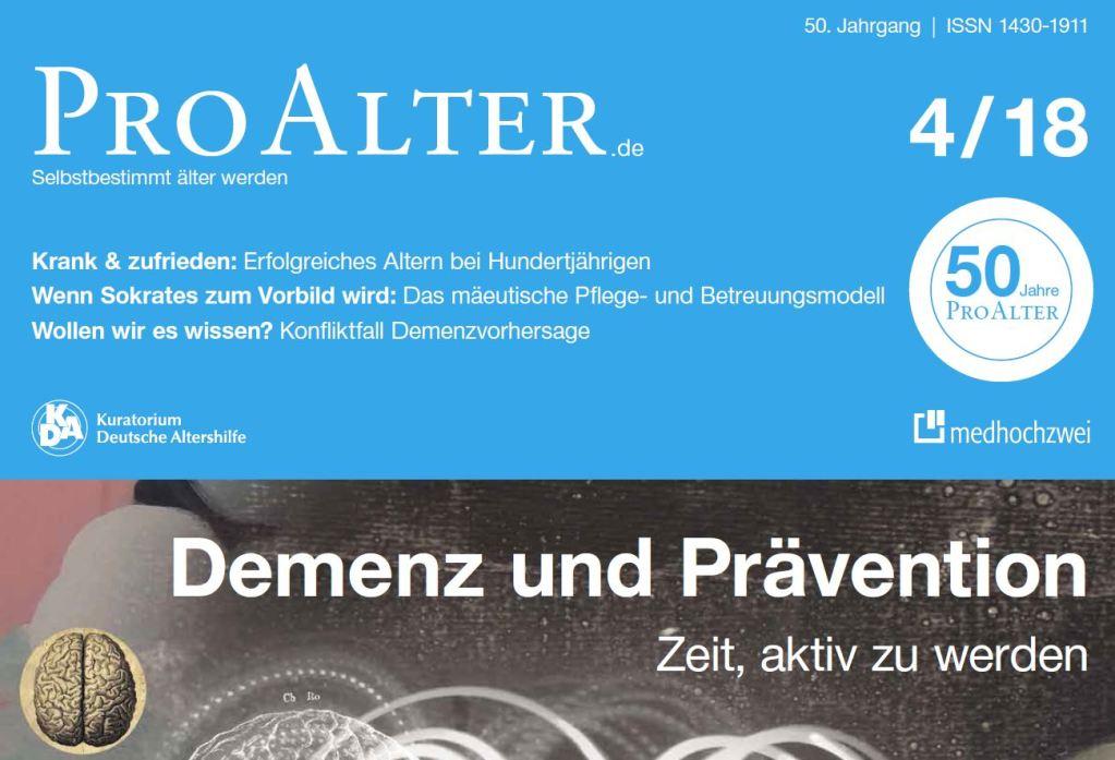 Cover ProAlter Ausgabe 4-2018
