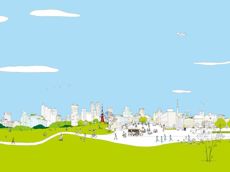 Stadtillustration Wohnen