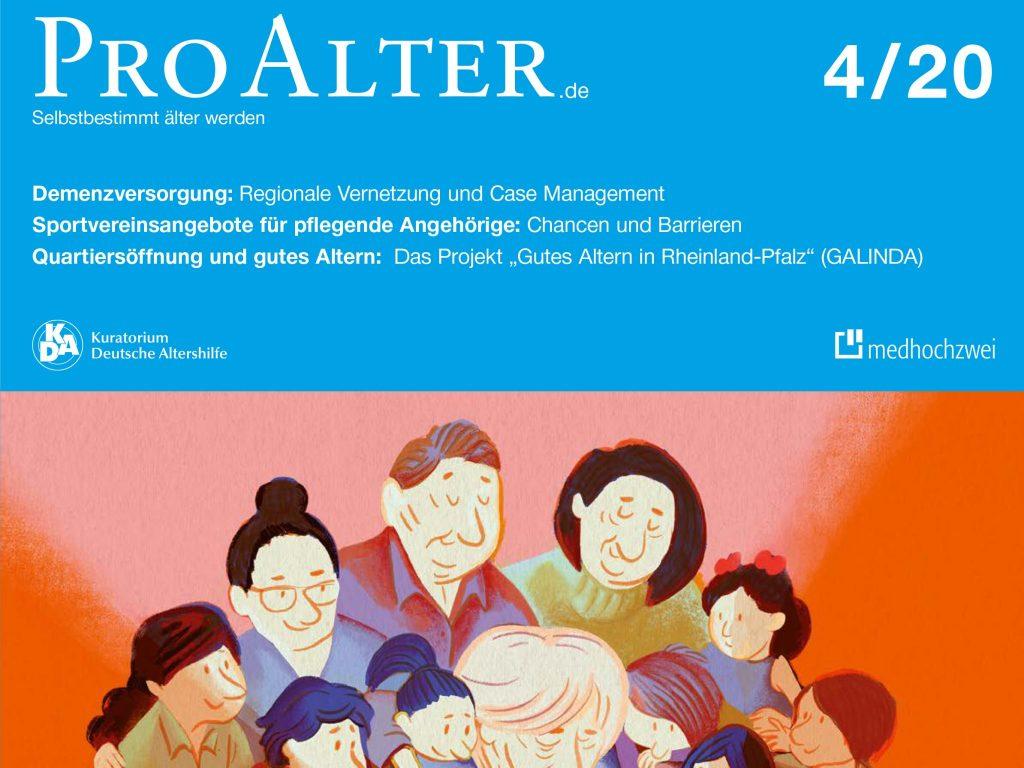 Cover der Zeitschrift ProAlter 4_2020