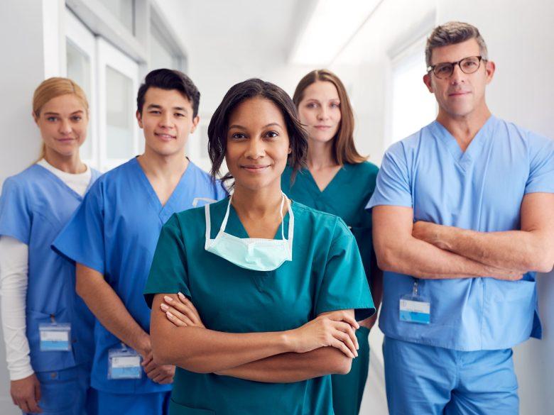 internationale Pflegekräfte in der Gruppe