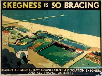 Skegness Advancement Association poster. Artwork by V L Danvers.