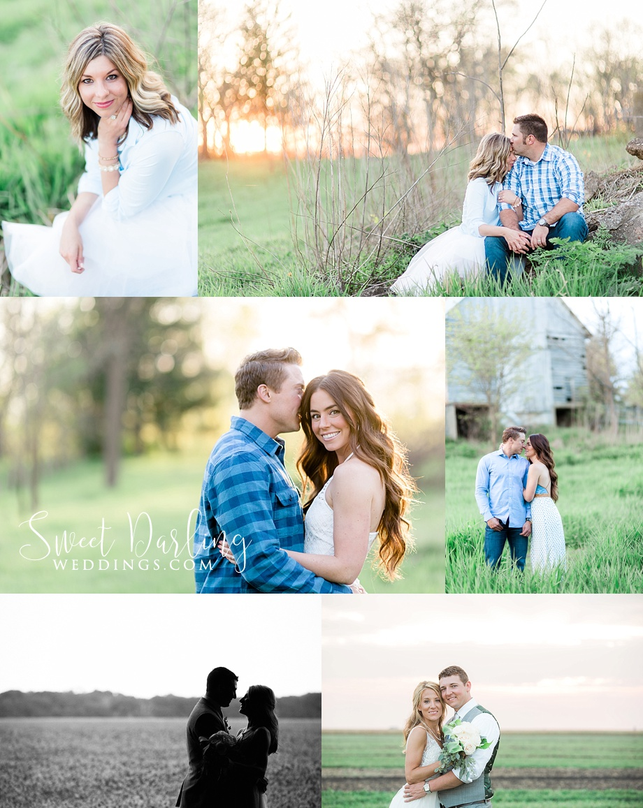 Engaged couples, weddings, and love during the golden hour photo session