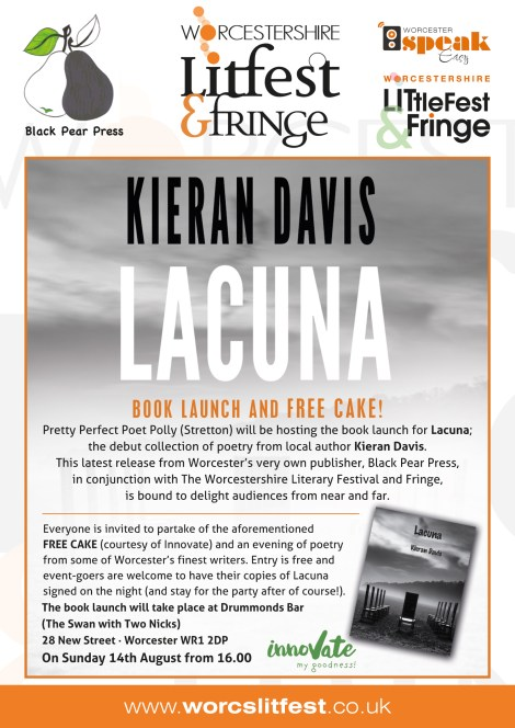 Lacuna book launch poster