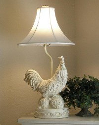 Angelic Accents: Rooster Lamp