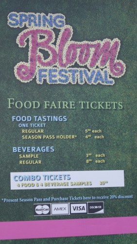 Spring Bloom Food Faire Ticket Sign