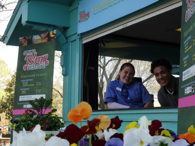 Spring Bloom Information Booth