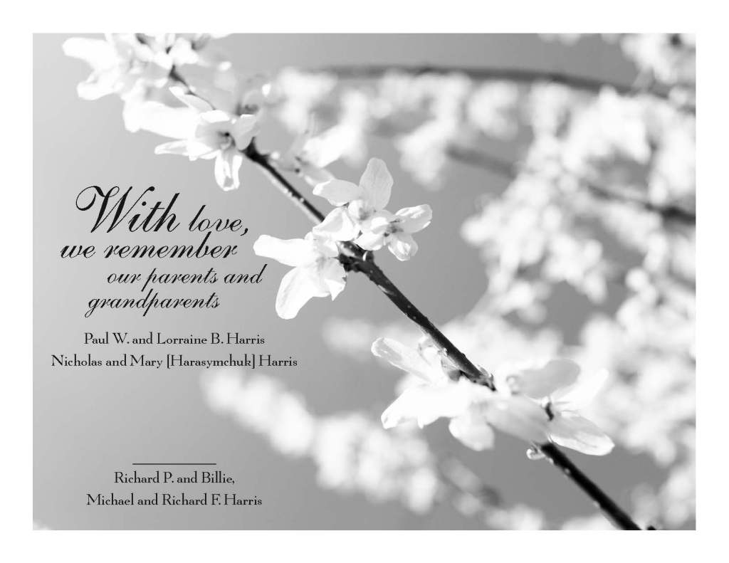 Tribute Ad for Funeral Home