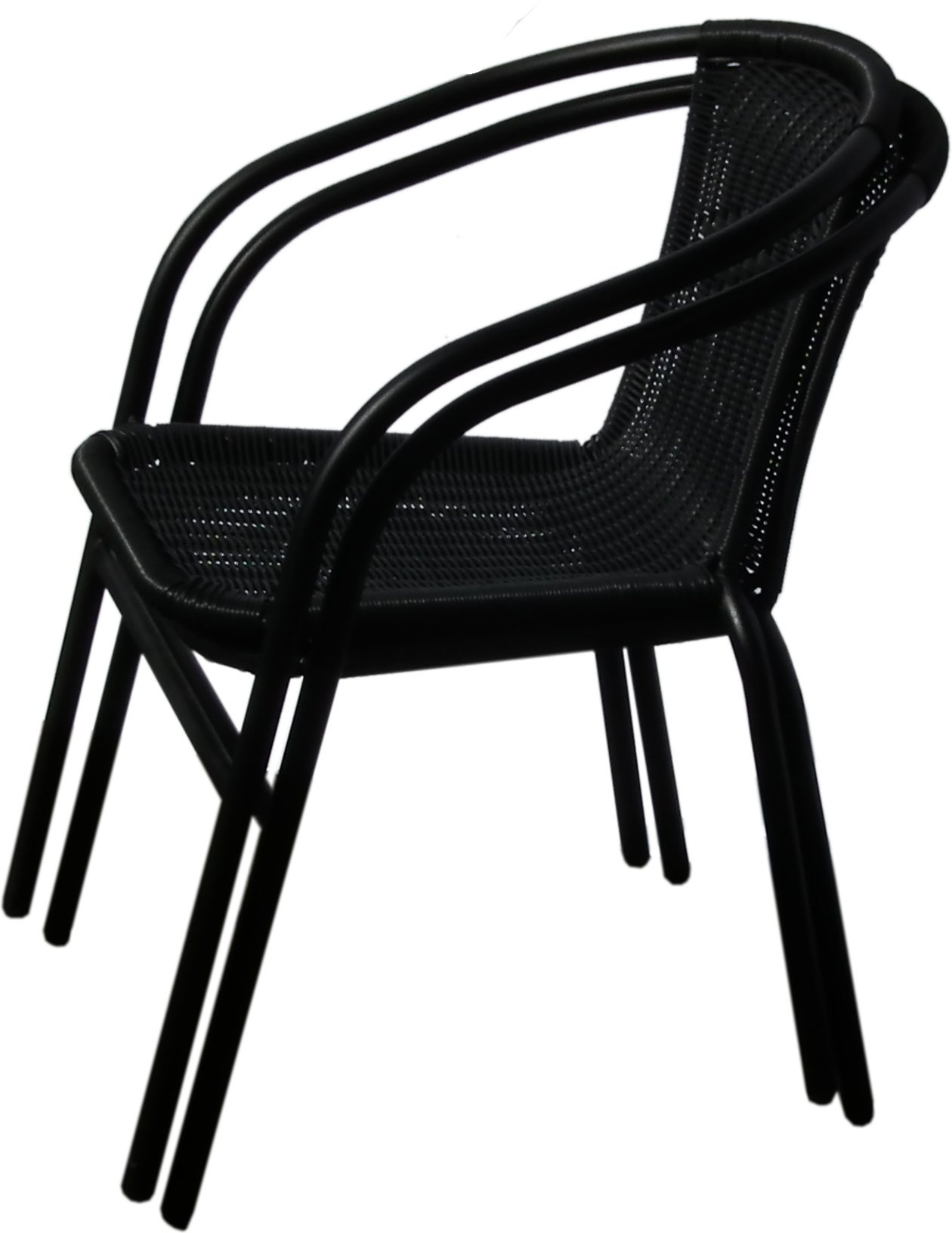 Black Metal Patio Chairs Black Outdoor Wicker Rattan Bistro Chair Metal Frame Woven