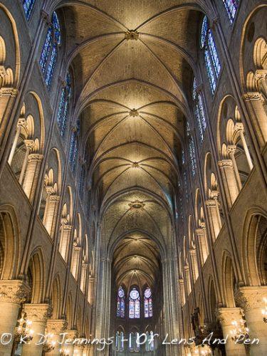 Inside Notre Dame De Paris Cathedral