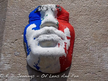 Gregos Paris Face Sculpture With French Flag Colours