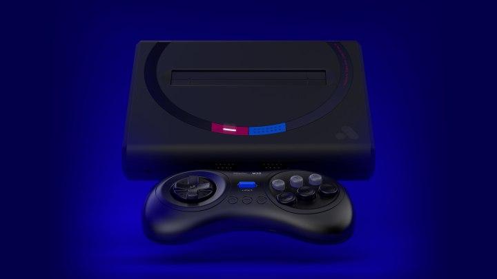 Mega Sg on blue background