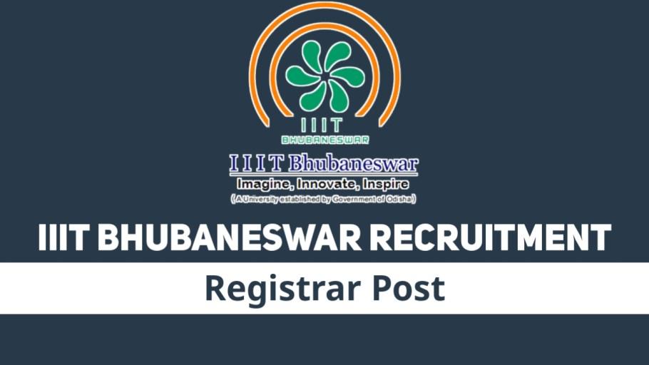 IIIT BHUBANESWAR Recruitment