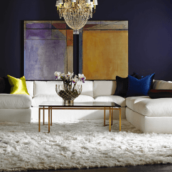 Living Room With Sectionals Contemporary Wall Decor Lillian August - Kdrshowrooms.com