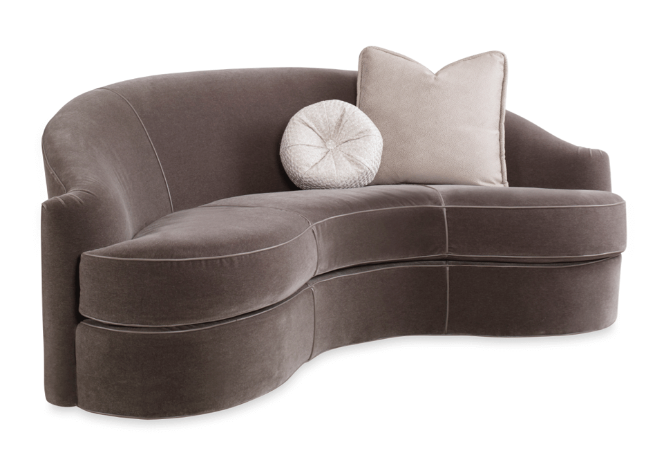 sherrill furniture sectional sofas curved ultra suede sofa ahead of the curve: non-linear & sectionals ...