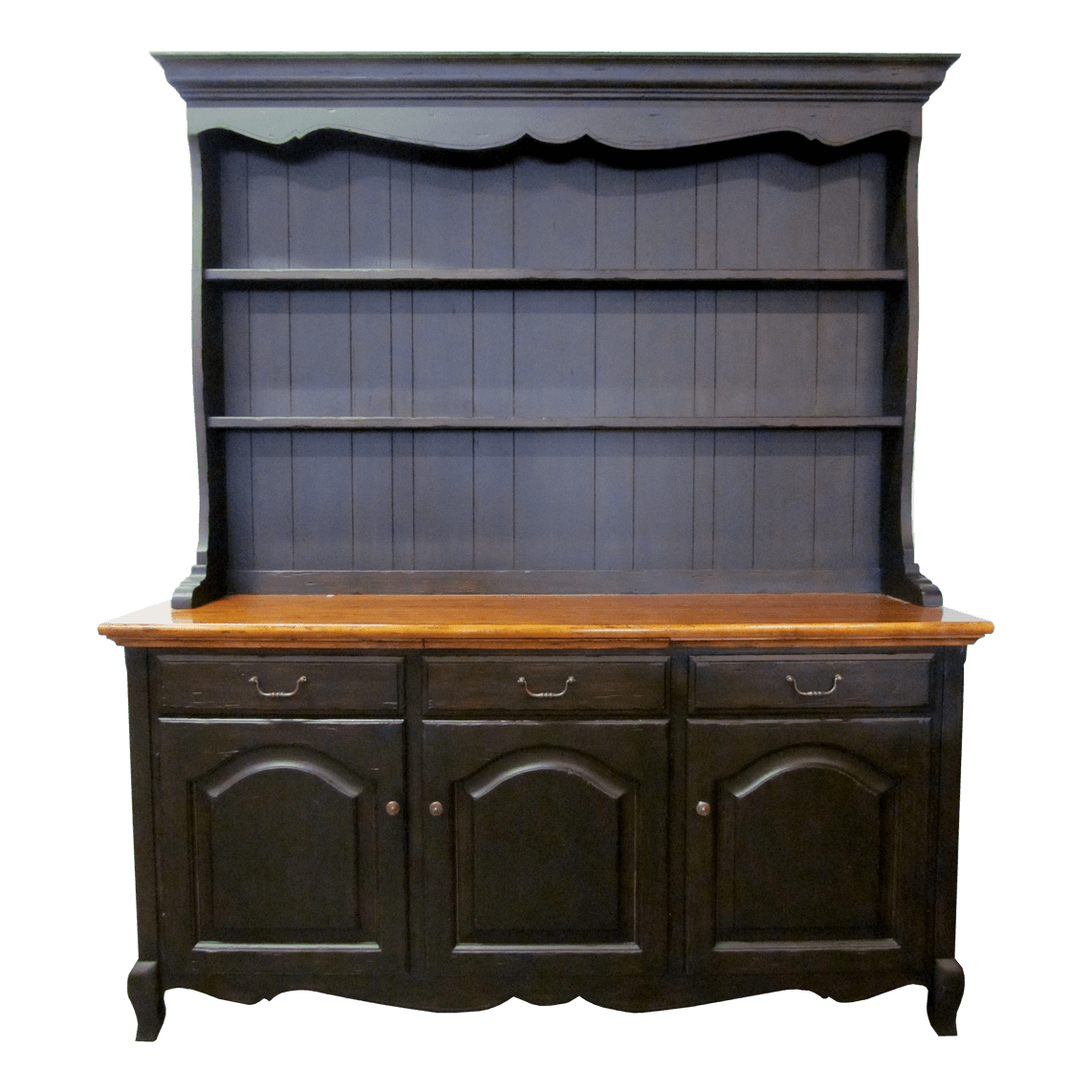 French Country Sideboard with China Hutch  KDRShowroomscom