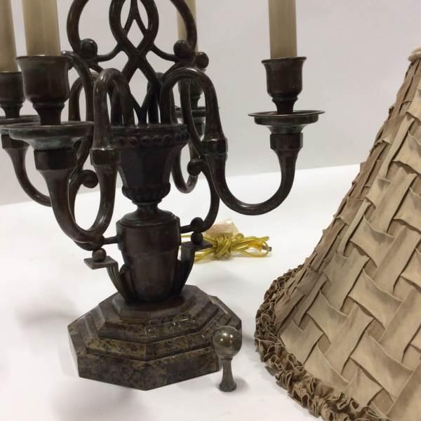 Metal Candelabra Table Lamp