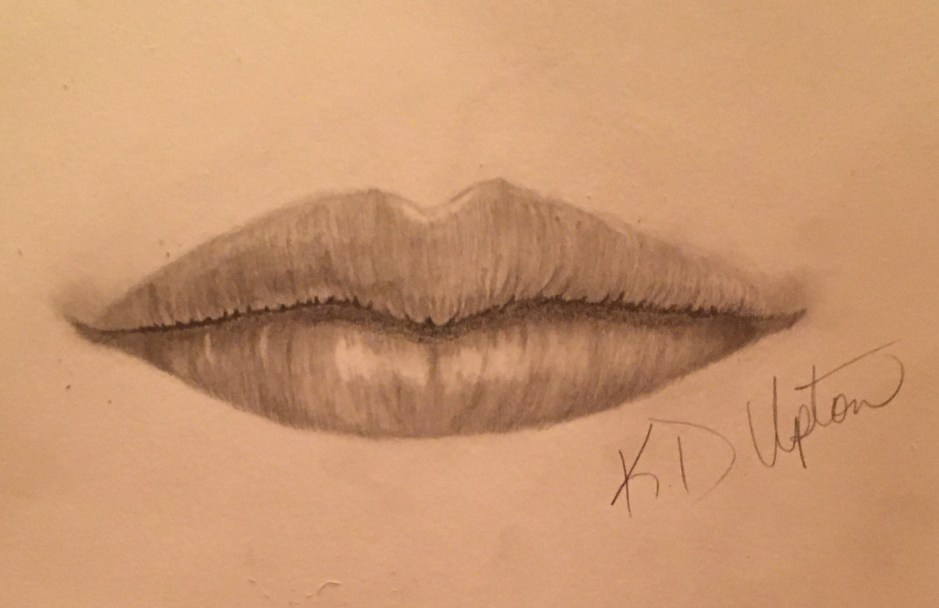 Drawing a mouth takes hours of hard work, but it is time well spent.